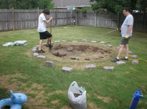 Digging out the circle